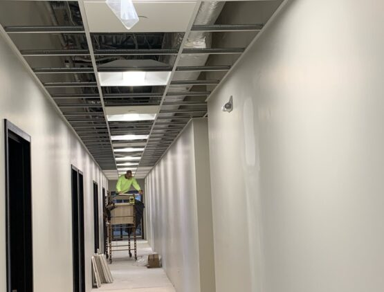 commercial drop ceiling installation ri
